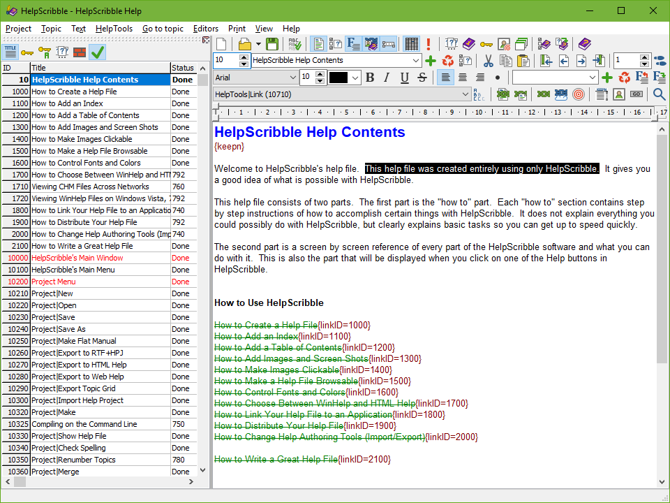 HelpScribble: The Complete Windows Help Authoring Tool