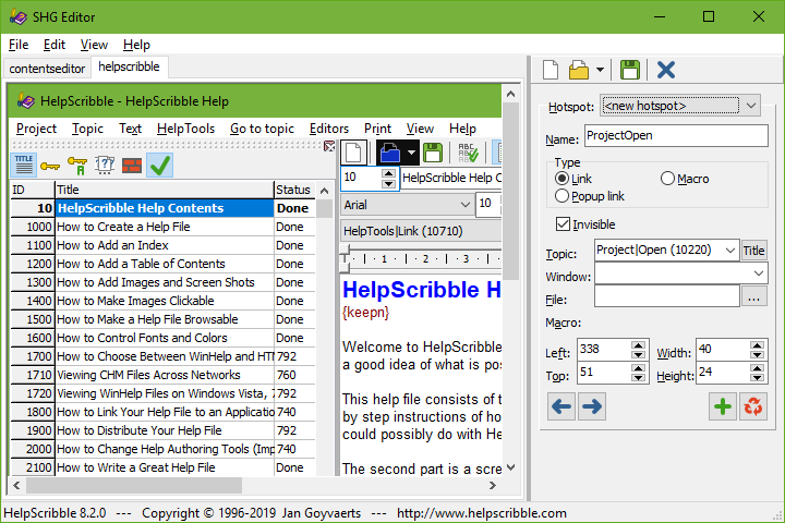 HelpScribble's Segmented HyperGraphics Editor